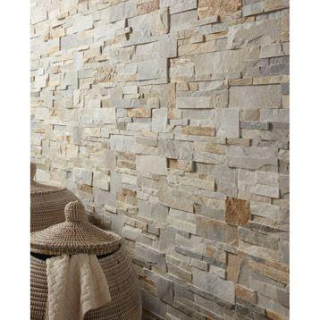 plaquette de parement el gance en pierre naturelle beige. Black Bedroom Furniture Sets. Home Design Ideas