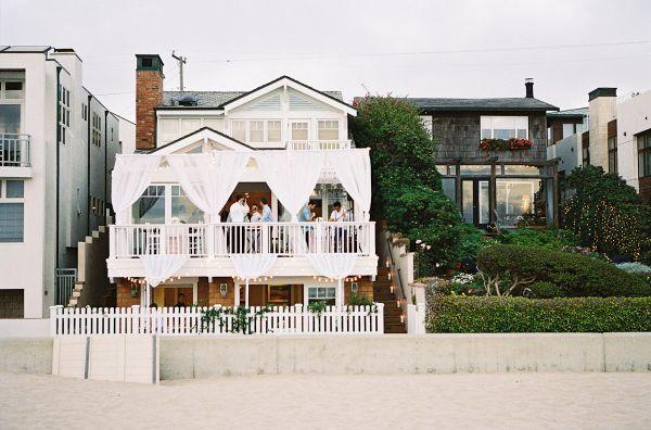 Blush Mint Coastal Beach Wedding Inspired By This Beach Houses For Rent Beach House Wedding Reception California Beach House