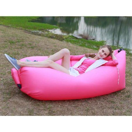 Leather Sofa Inflatable Sofa Nylon Fabric Lounger Chair Air Compression Outdoor Camping Beach Sleeping Bag Pads Portable Lazy