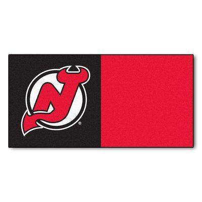 FANMATS NHL - Chicago Blackhawks Team Carpet Tiles NHL Team: New Jersey Devils