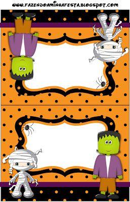 Halloween Menino - Kit Completo com molduras para convites 97a0dba93e1