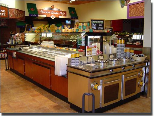 Interior and exterior salad bar
