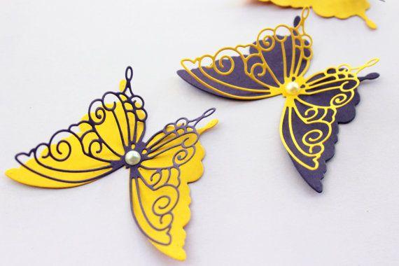 3d butterfly wall decals - Wall butterflies - 3d Paper butterflies ...