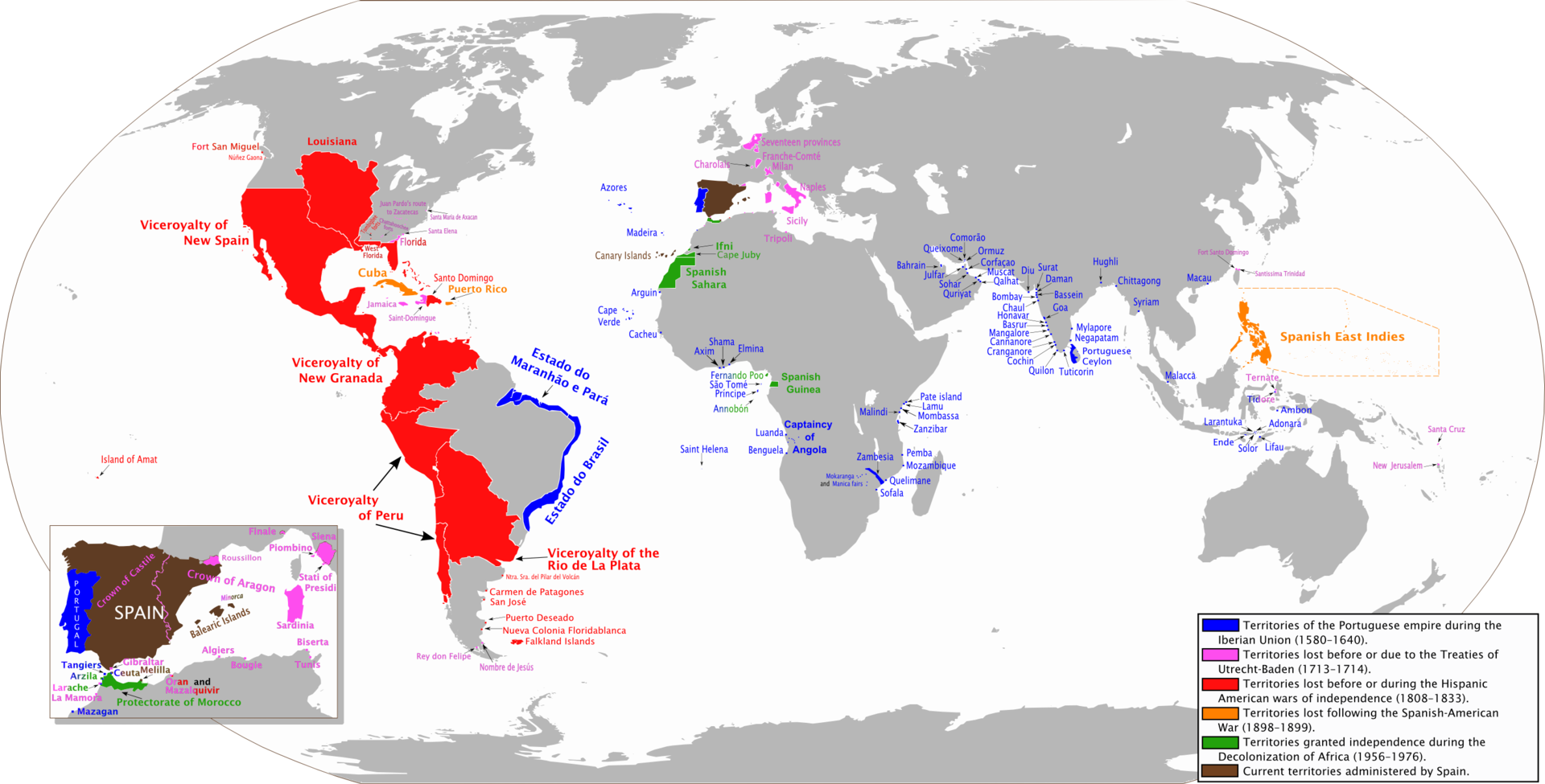 The areas of the world that at one time were territories of the the areas of the world that at one time were territories of the spanish monarchy gumiabroncs Image collections