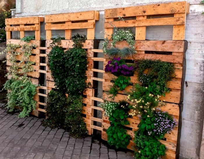 Europalette Holz Diy Ideen Vertikaler Garten | Garten | Pinterest ... Vertikale Bepflanzung Ideen Tipps Garten