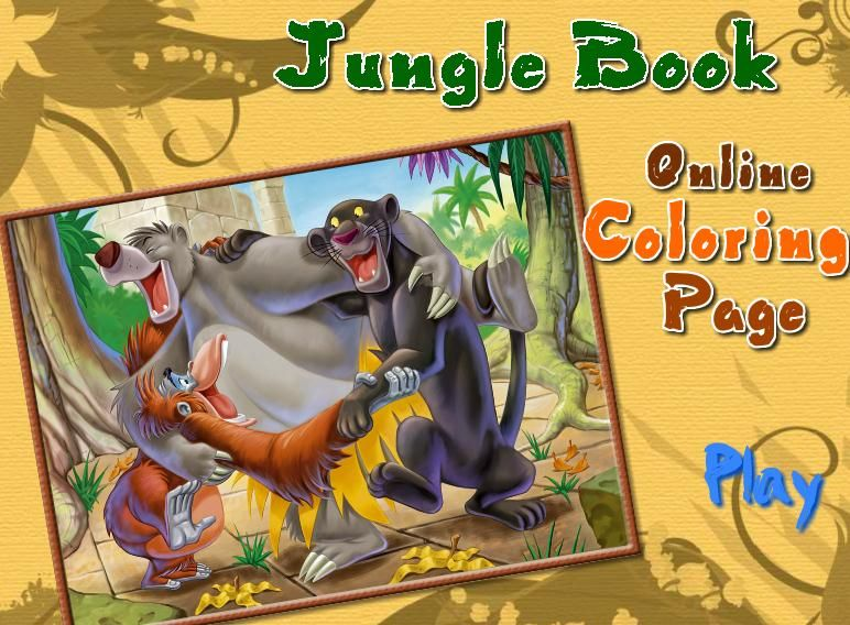 Fill The Jungle With Colors And Happiness Play Free Online Games Coloring Books Free Online Games