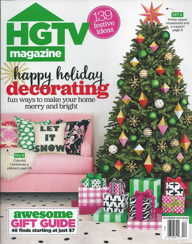 I love this Christmas cover of HGTV Magazine!