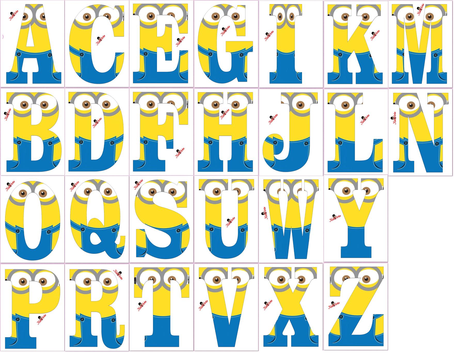 Muitas vezes http://eugeniakatia.blogspot.com/2015/06/alfabeto-minions.html  ZM47