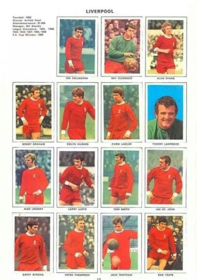 The team Liverpool Football Club,1970/71