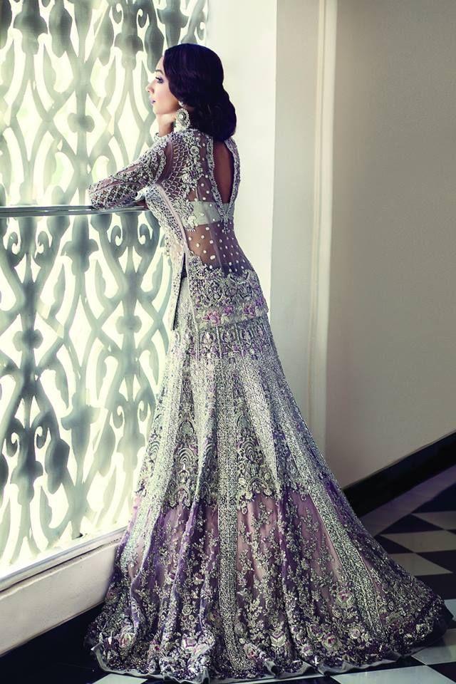 Elaborate Purple Lengha Indian Bridal Bridal Outfits Bridal