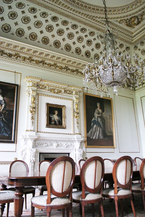 Wentworth Woodhouses Dining Room Source Theladyintweed
