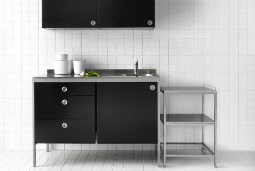 Ikea modulküchen wie z b udden wandschrank in schwarz