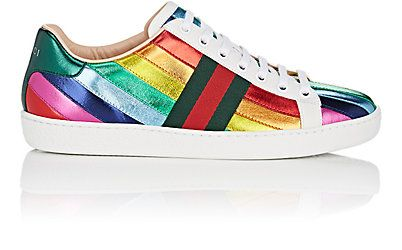 online retailer 05ec5 a3e7f We Adore  The New Ace Leather Sneakers from Gucci at Barneys New York