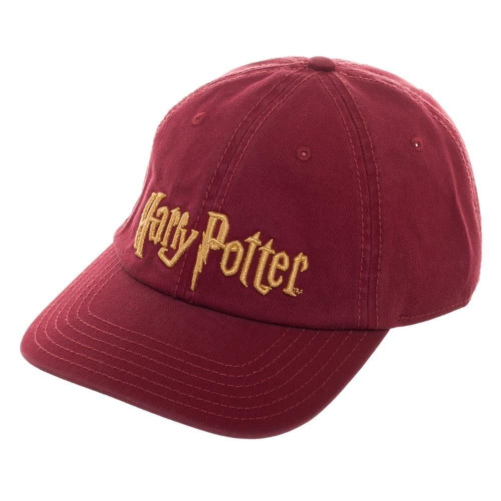 85dc753d277 Harry Potter Title Logo Dad Style Hat Cap Officially Licensed Gryffindor  Red NEW  Bioworld  BaseballCapDadHat