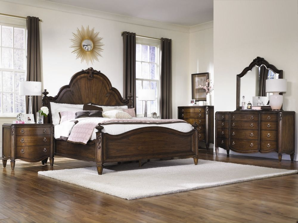 Jessica Mcclintock Couture Mansion Bedroom Set   American Drew Furniture  The Mansion Bed Fills A Bedroom