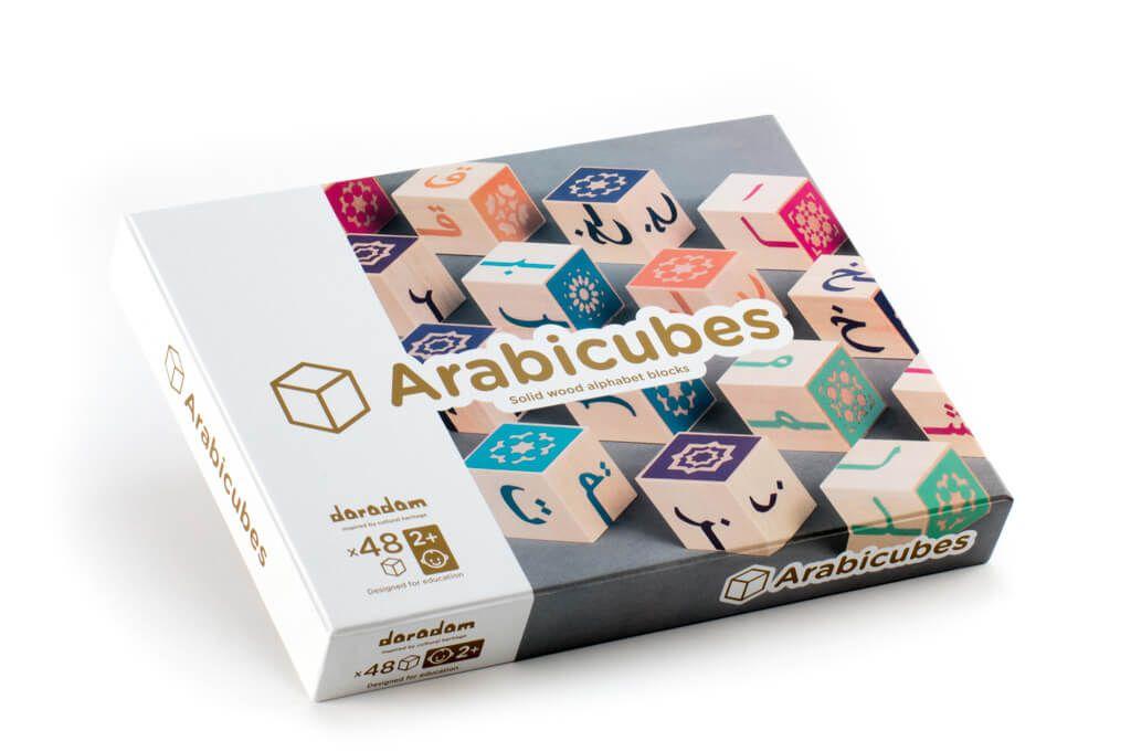 Arabicubes Cube En Bois Alphabet Arabe Daradam Speelgoed