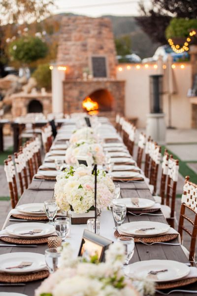 Romantic Oak Glen Garden Wedding Serendipity Garden Weddings Oak Glen Wedding Wedding Table Settings