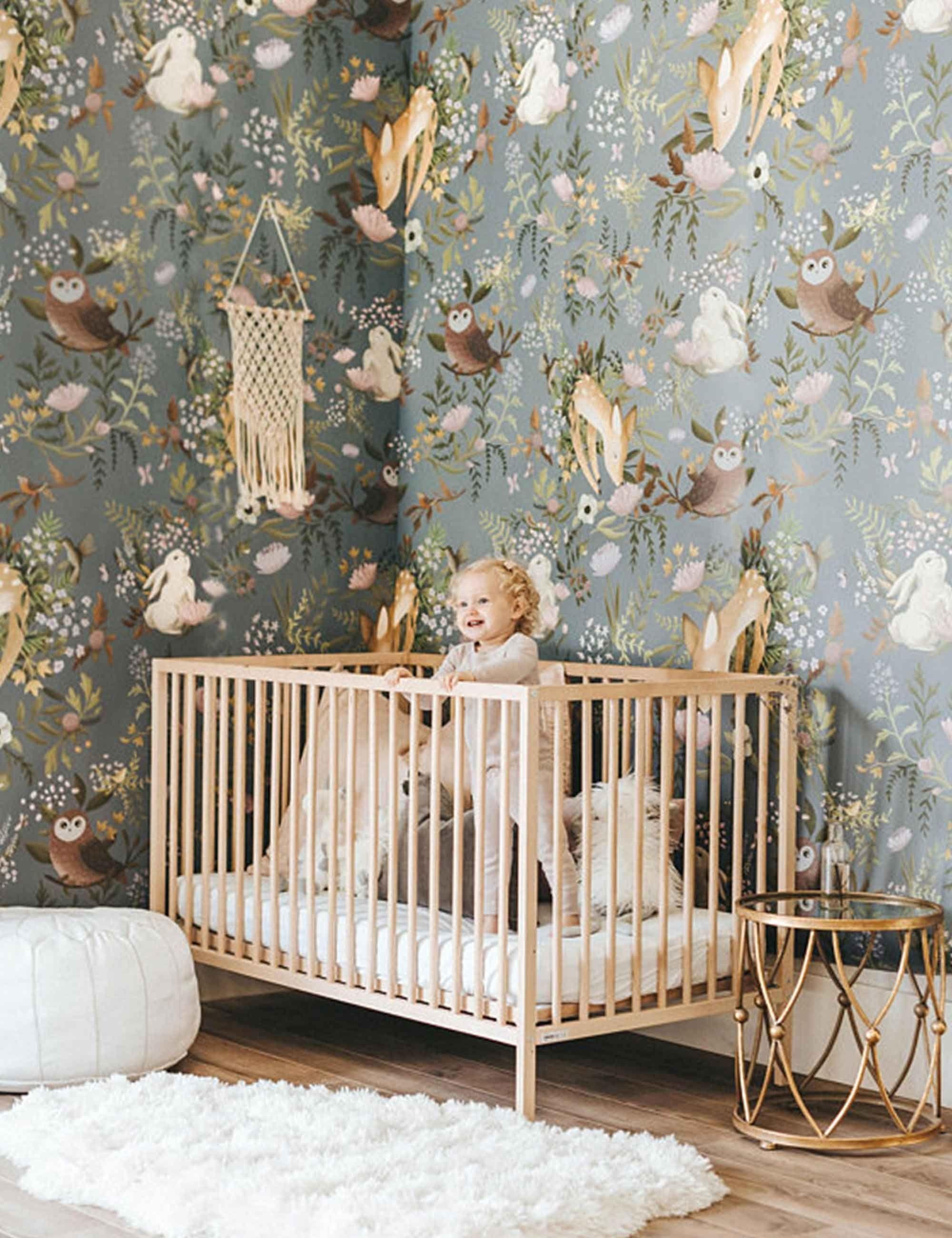 Anewall OH Deer Wallpaper Mural, Dark Anewall OH D