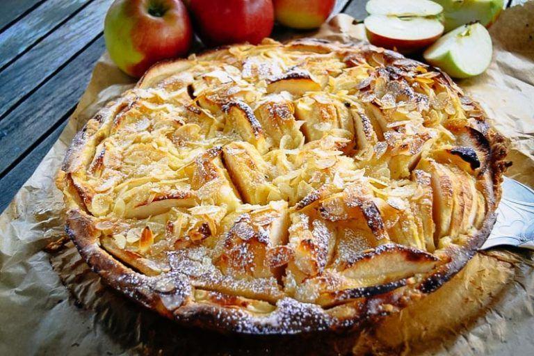 Französische Apfeltarte Rezept mit Calvados #pumpkinmuffins