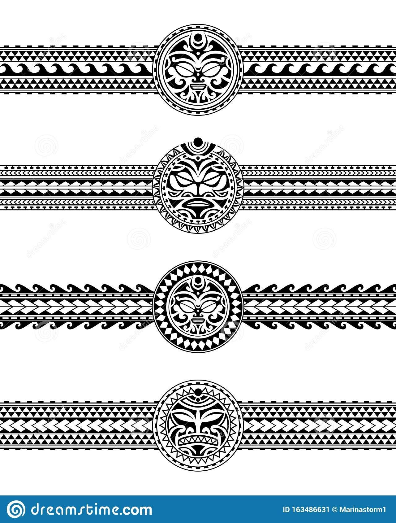 Illustration About Set Of Maori Polynesian Tattoo Border Tribal Sleeve Pattern Vector Samoan Bracele In 2020 Band Tattoo Designs Tattoo Bracelet Tribal Armband Tattoo