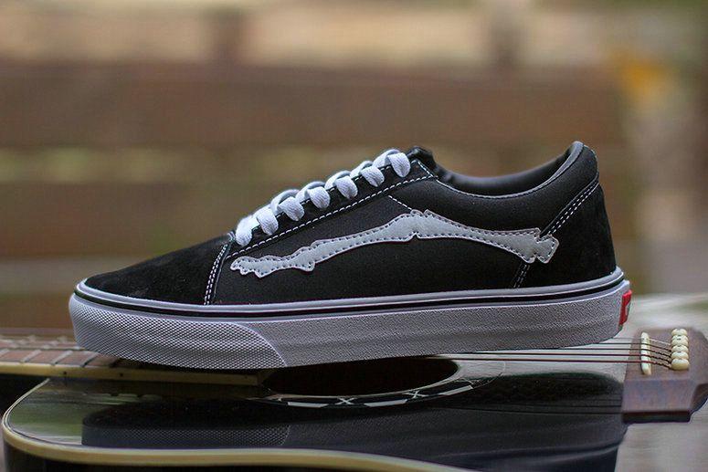 Blends X Vans Vault Old Skool Zip Lx Bones Jazz Stripe Black White Vans For Sale Vans Black And White Vans Vans Vans Old Skool Sneaker