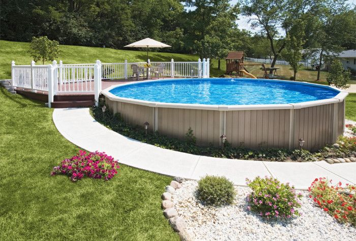 Above ground versus inground pools pools backyards for Above ground pool decks las vegas