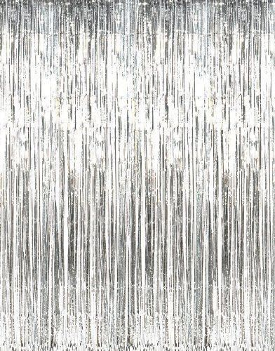 Silver Foil Curtain Party Backdrop Birthday Party By Byjoessa Curtain Fringe Foil Curtain Backdrops For Parties