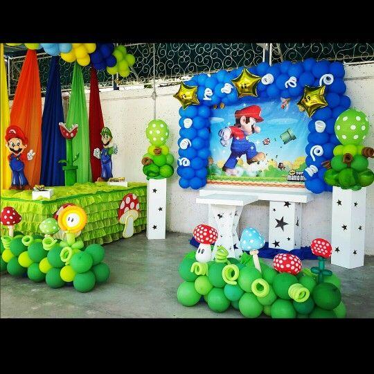 Decoracion Fiesta Super Mario Kart Buscar Con Google Mario In