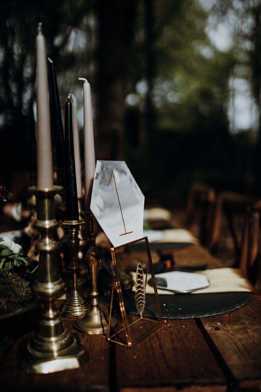 Modern Gothic Wedding Ideas in the Woods   Gothic wedding ...