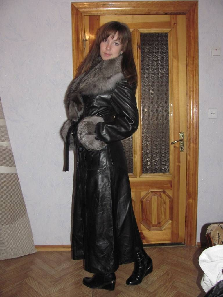Long Fur Trimmed Leather Coat | Places to Visit | Pinterest ...