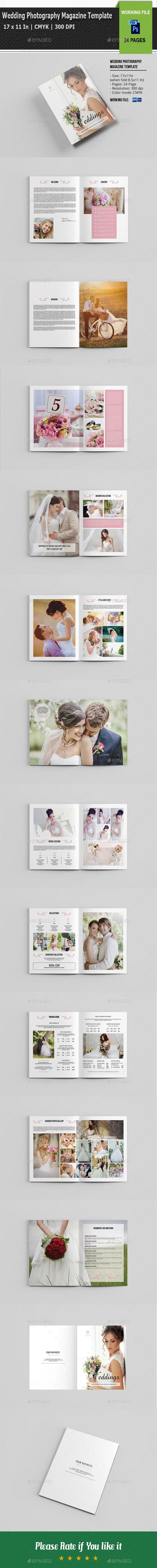 Wedding Photography Magazine / Brochure Template PSD