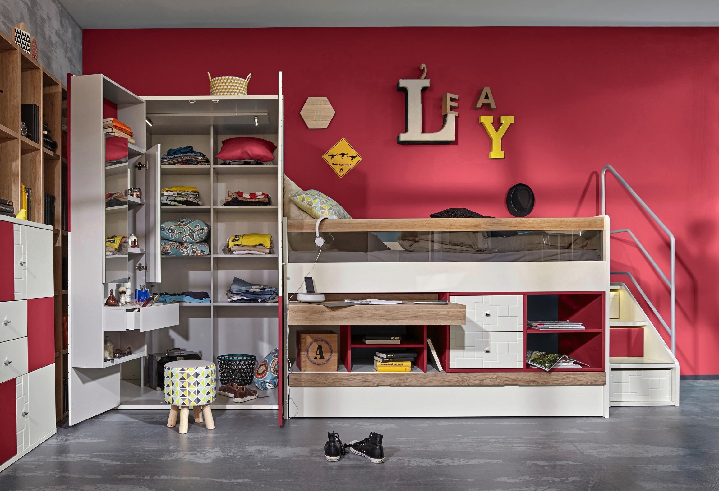hochbett kinder und jugendzimmer pinterest hochbett bett und schlafzimmer. Black Bedroom Furniture Sets. Home Design Ideas