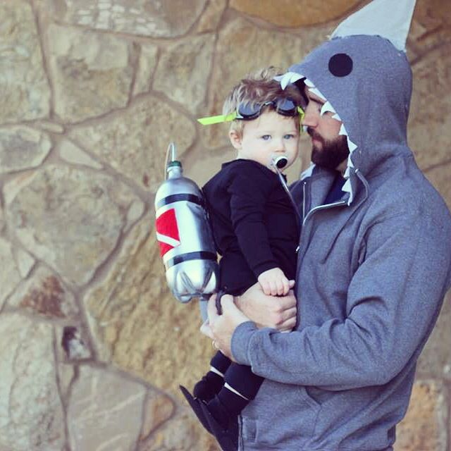 Scuba diver and shark! Daddy son costume | Halloween | Pinterest ...