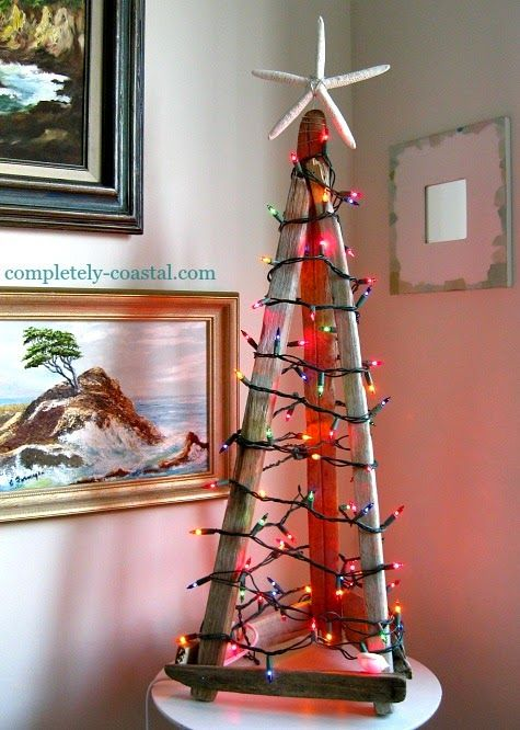 Alternative Christmas Tree  Teepee Tabletop Tree Made With Drift Wood Sticks