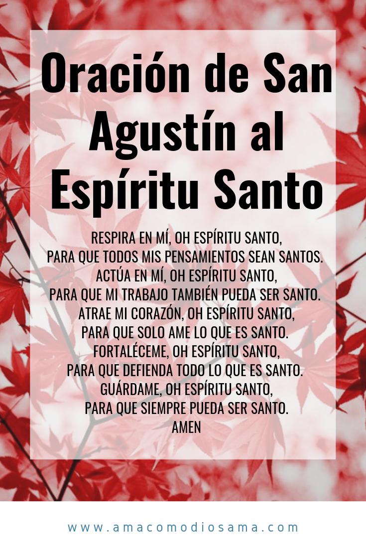 Oración de San Agustín al Espíritu Santo