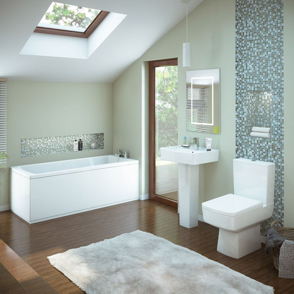 Premier Bathroom Design Premier Bliss 5 Piece Bathroom Suite  Contemporary Style Small