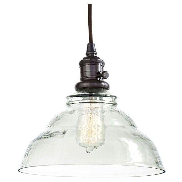 Pottery Barn Ceiling Light Fixtures: Pottery Barn Vintage Glass Pendant Hood + Bronze Finish