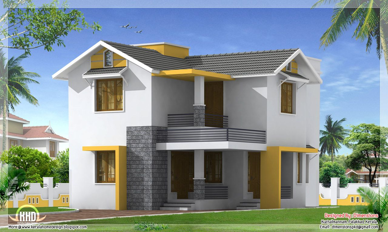 Beautiful modern Kerala home Exterior design  Ideas for the House in 2019  House design