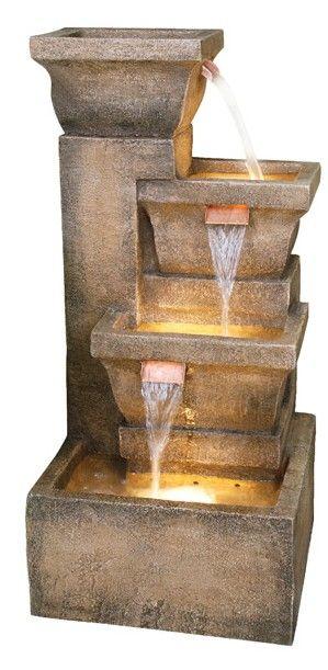 Garden Decor Ashboro Lighted Garden Fountain