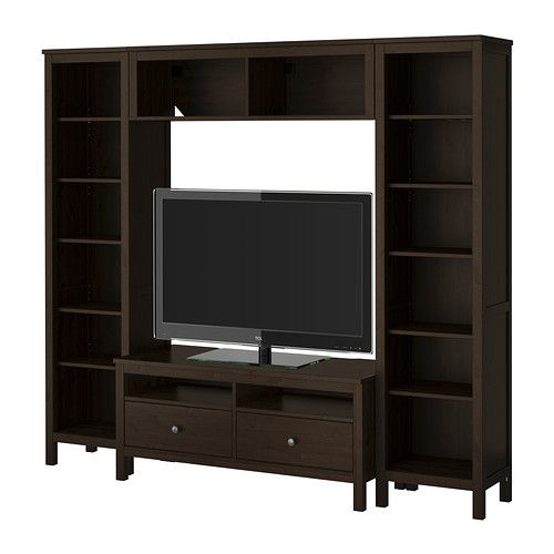 hemnes tv storage combination black brown ikea this is what i want to do for my. Black Bedroom Furniture Sets. Home Design Ideas