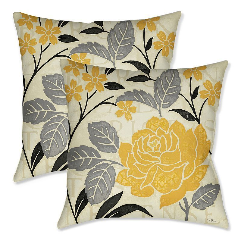 Laural Home Perfect Petals II 2-piece Throw Pillow Set, Multicolor