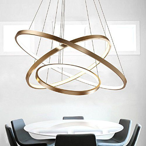 LED Lüster Modern Acryl Pendelleuchte Drei Ringe Deckenlampe