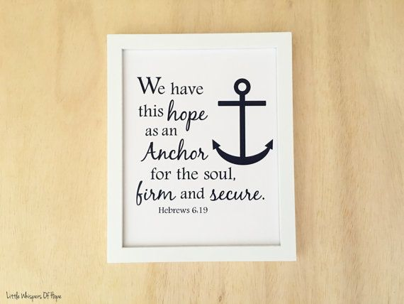 This nautical bible verse printable is perfect for a nautical themed ...