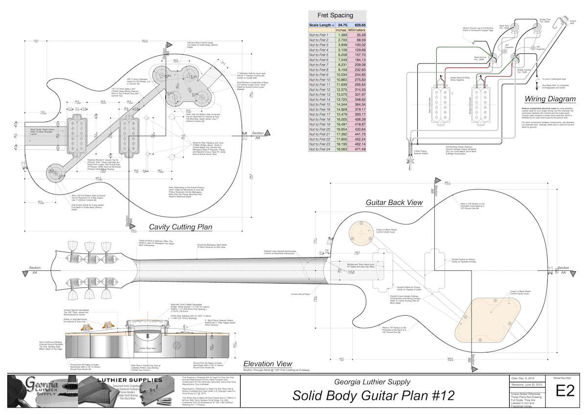 b5b9923a3ecd697492969bf84dd9b2c7 les paul plantilla enrutamiento cuerpo s�lido de la guitarra les paul wiring diagram schematics at arjmand.co