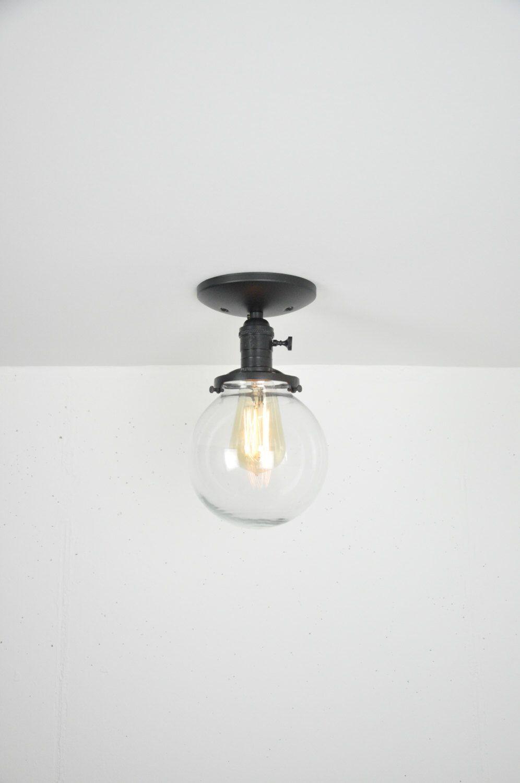 Globe ceiling light black light fixture ceiling mounted flush mount glass globe light modern ceiling light semi flush mount lamp ceiling
