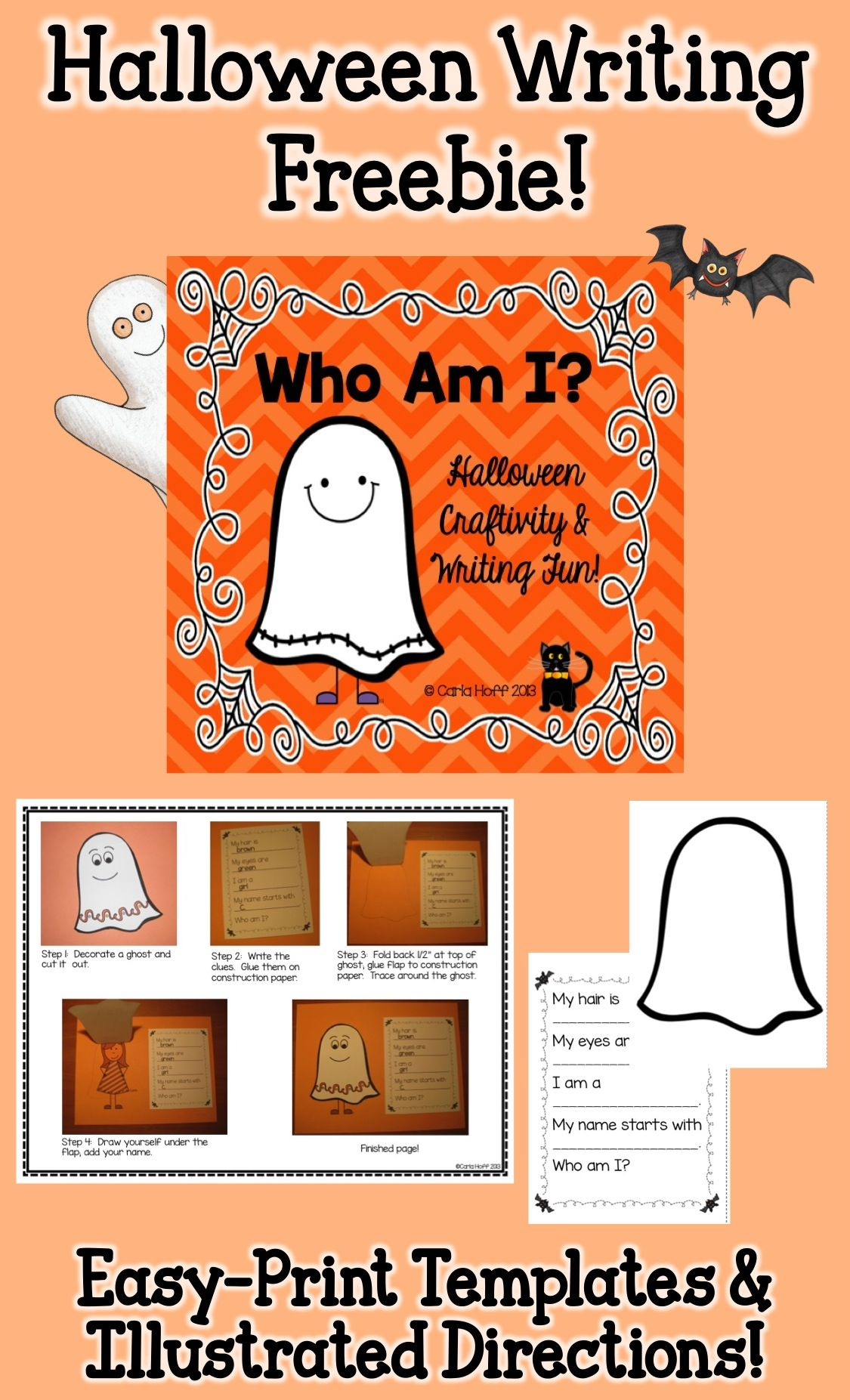 hereu0027s a fun and easy halloween riddle book or bulletin board display to make