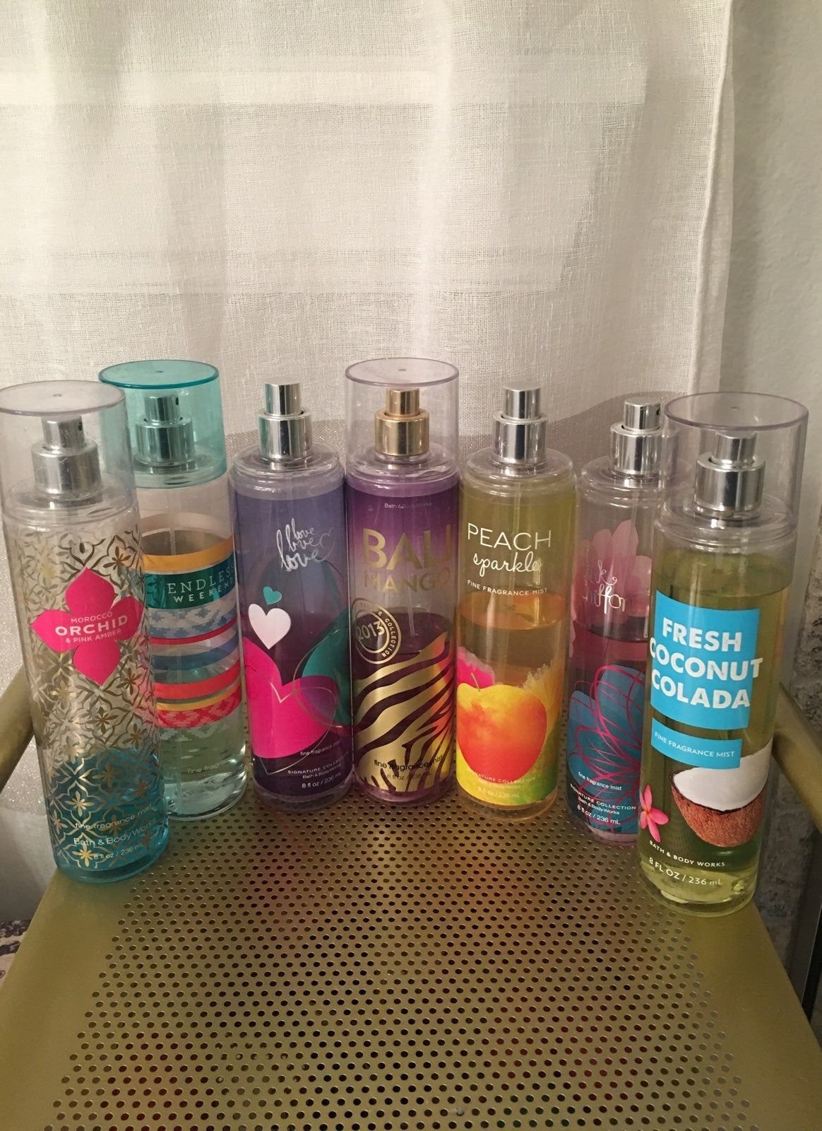 Bath And Body Work Body Spray All Used And Some Retired Scents