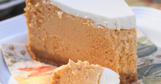 Creamy and delicious pumpkin cheesecake ... it may just be the creamiest, tastiest cheesecake ever.