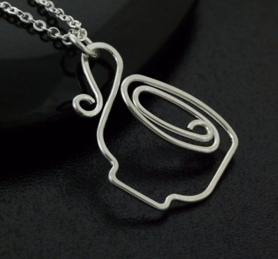 Coffee Tea Cup Wire Necklace Tea Cup Necklace Wire Jewelry Designs Wire Jewelry