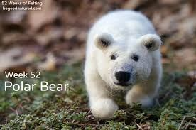 Image result for needle felted polar bear